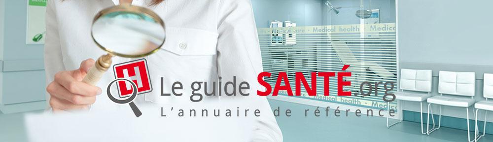 Pour trouver les professionels de santé de votre région, rendez-vous sur le-guide-sante.org